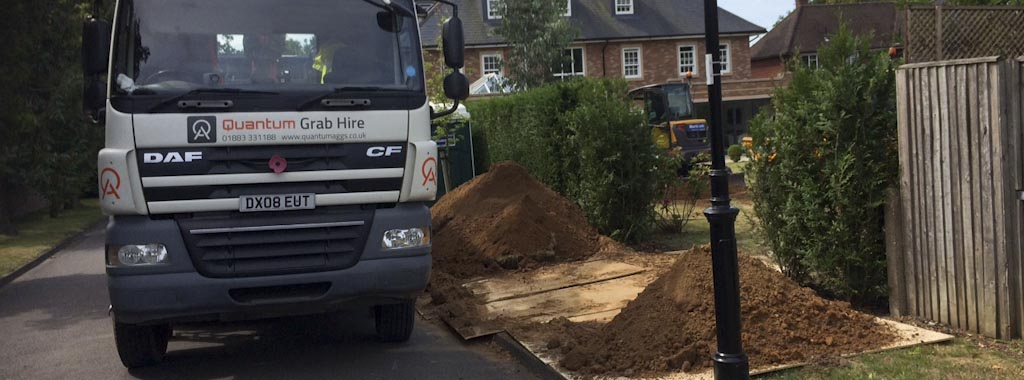 Muck-away service from building site