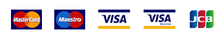 We accept Matercard, Maestro, Visa, Visa Electron and JCB