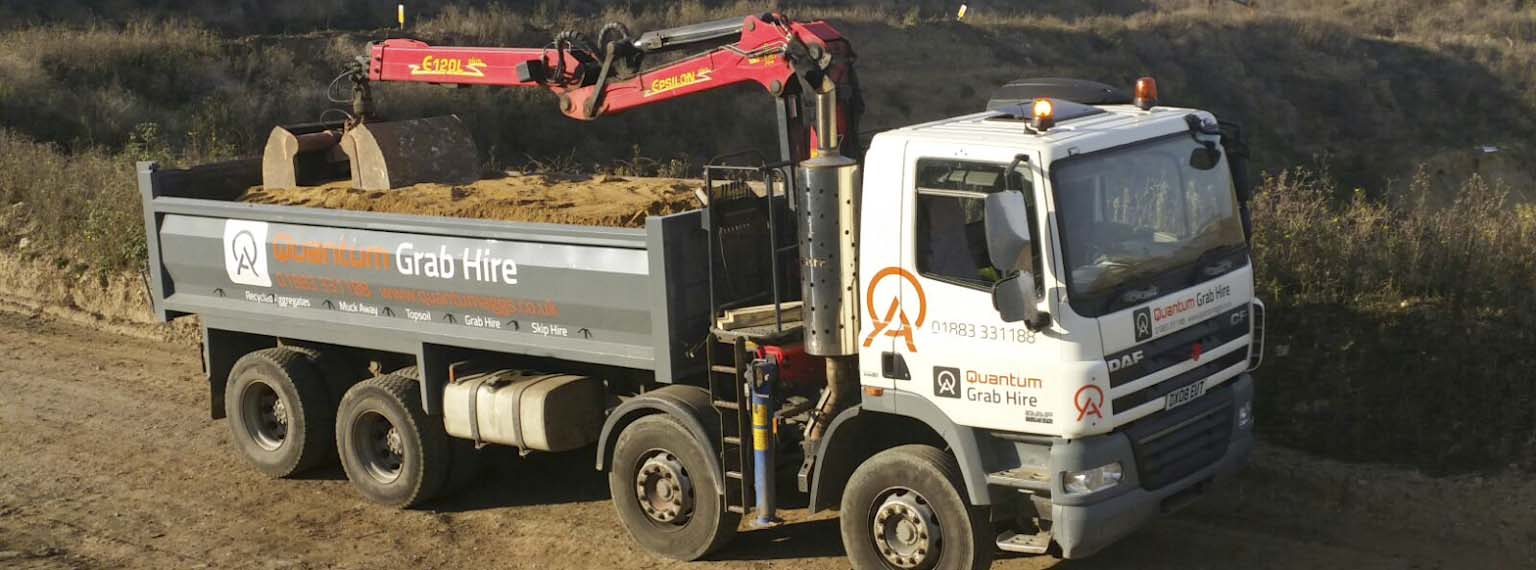 Quantum Aggregates tipper truck loaded with sand