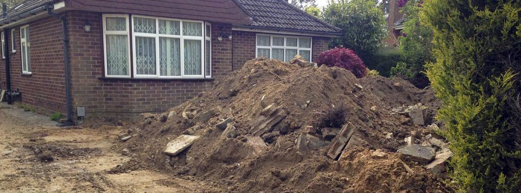Residential building site requires waste soil removal