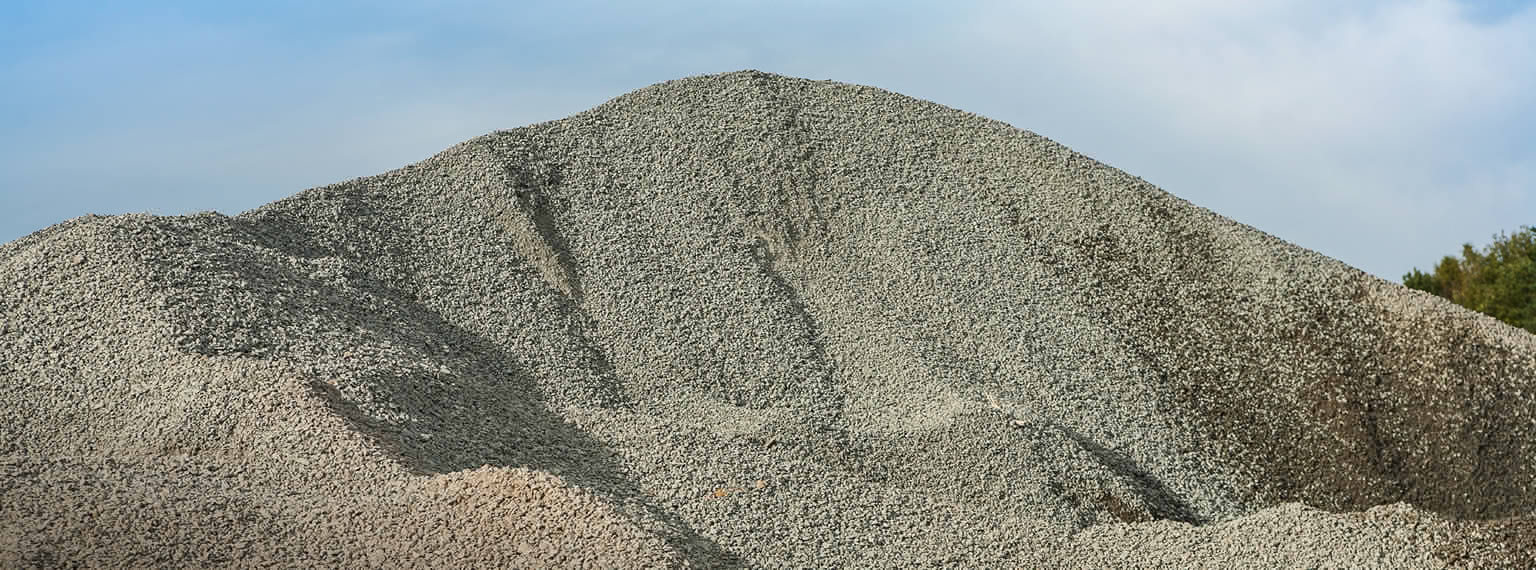 Stockpiles of recycled aggregates