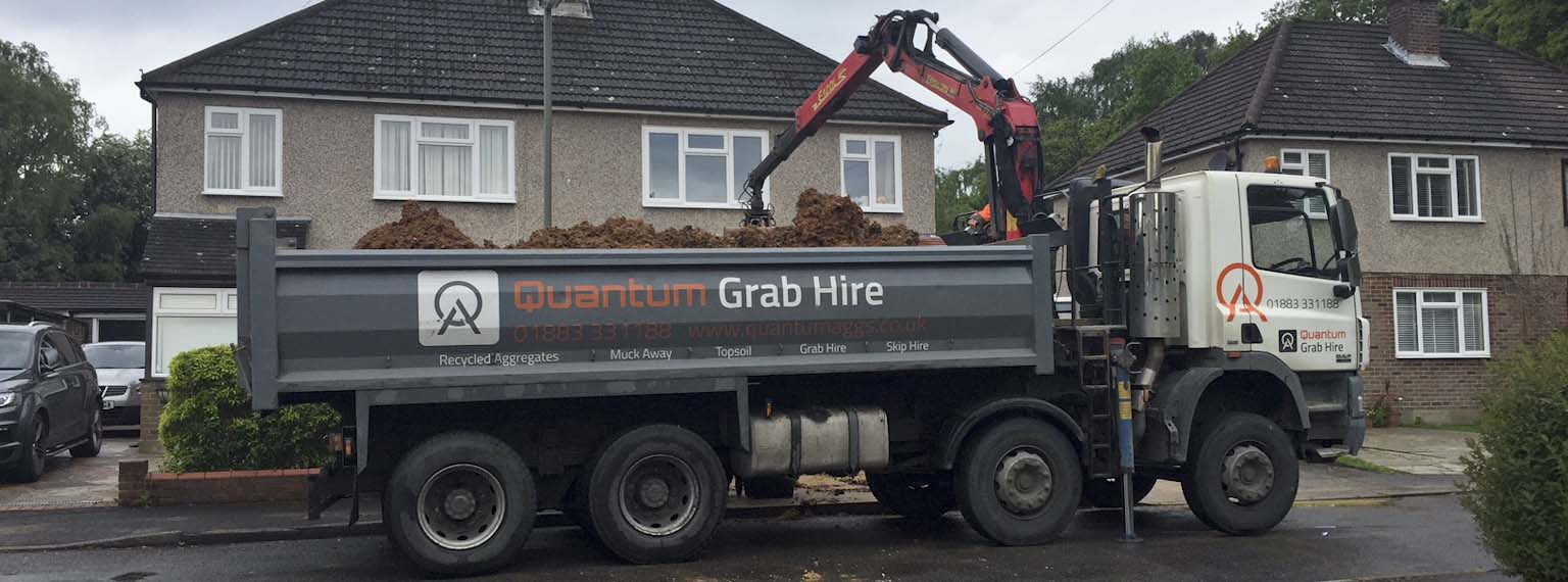 Delivering topsoil to residential site